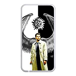 Castiel the Fallen Angel Back Case Cover For Apple iPhone 4 4S (Silicone Rubber)