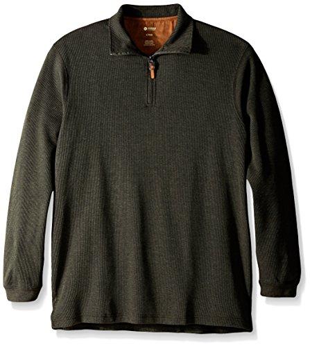 Tall Vine (Haggar Men's Big-Tall Knit Flat Back Rib Quarter Zip Sweater, Vine, Tall/Large)