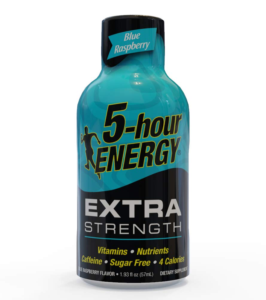 5-hour ENERGY Shot, Extra Strength Blue Raspberry, 1.93 Ounce, 24 count by 5-hour ENERGY (Image #1)