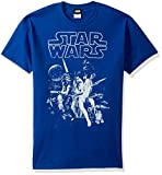 Star Wars Men's Official 'Poster' Graphic Tee, Royal XX-Large