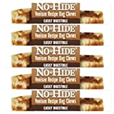 Earth Animal No Hide Raw Hide Dog Chews, Dog Treats. (Venison) 5 Pack 4 Inch ea. The Safe Alternative to Raw Hide!!!