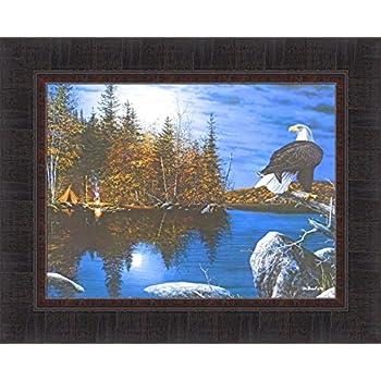 """Wake Up Call  By Jim Hansel  Camping Loon Lake  Print  16/"""" x 12/"""""""