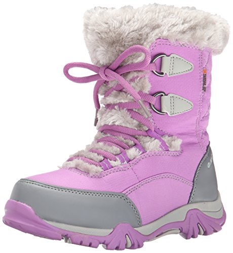 Hi-Tec ST Moritz Lite 200 WP Winter Boot (Toddler/Little Kid/Big Kid), Orchid/Cool Grey, 6 M US Big Kid by Hi-Tec