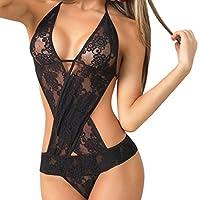 fbR8wawOKPHoYL9 Women Sexy Lingerie Lace Teedy Dream Eyelashes deep V Open Crotch Nighewear