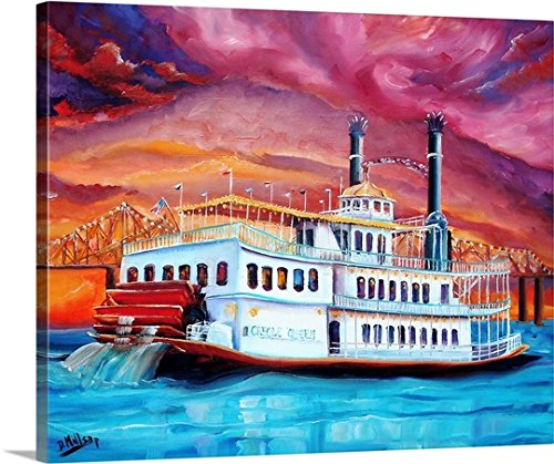 Diane Millsap Premium Thick-Wrap Canvas Wall Art Print entitled New Orleans' Creole Queen 30
