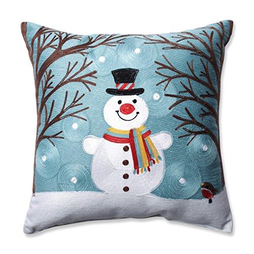Pillow Perfect Winter Wonderland Frost Throw Pillow, 16.5