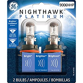 GE Lighting 9006NHP/BP2 Nighthawk Platinum Halogen Replacement Bulb, 2-Pack