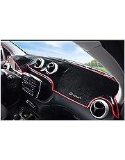 AniFM Il Parasole della stuoia del cruscotto Protegge Gli Accessori di Progettazione dell'automobile del Tappeto, per Mercedes-Benz Smart Forfour Fortwo 453 451,Fortwo-Red