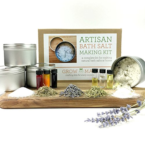 Artisan DIY Bath Salt Making Kit - learn how to make home made bath - Bath Lemongrass Lavender Salts