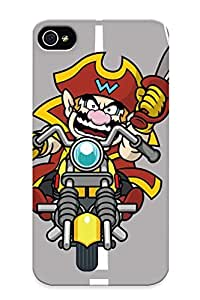 Crazinesswith Iphone 4/4s Well-designed Hard Case Cover Wario Game Wario Protector For New Year's Gift