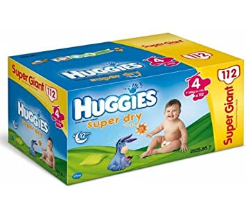 HUGGIES Pañales Super Dry Talla 4 (7 a 15 kg) - SuperGiant Box 1