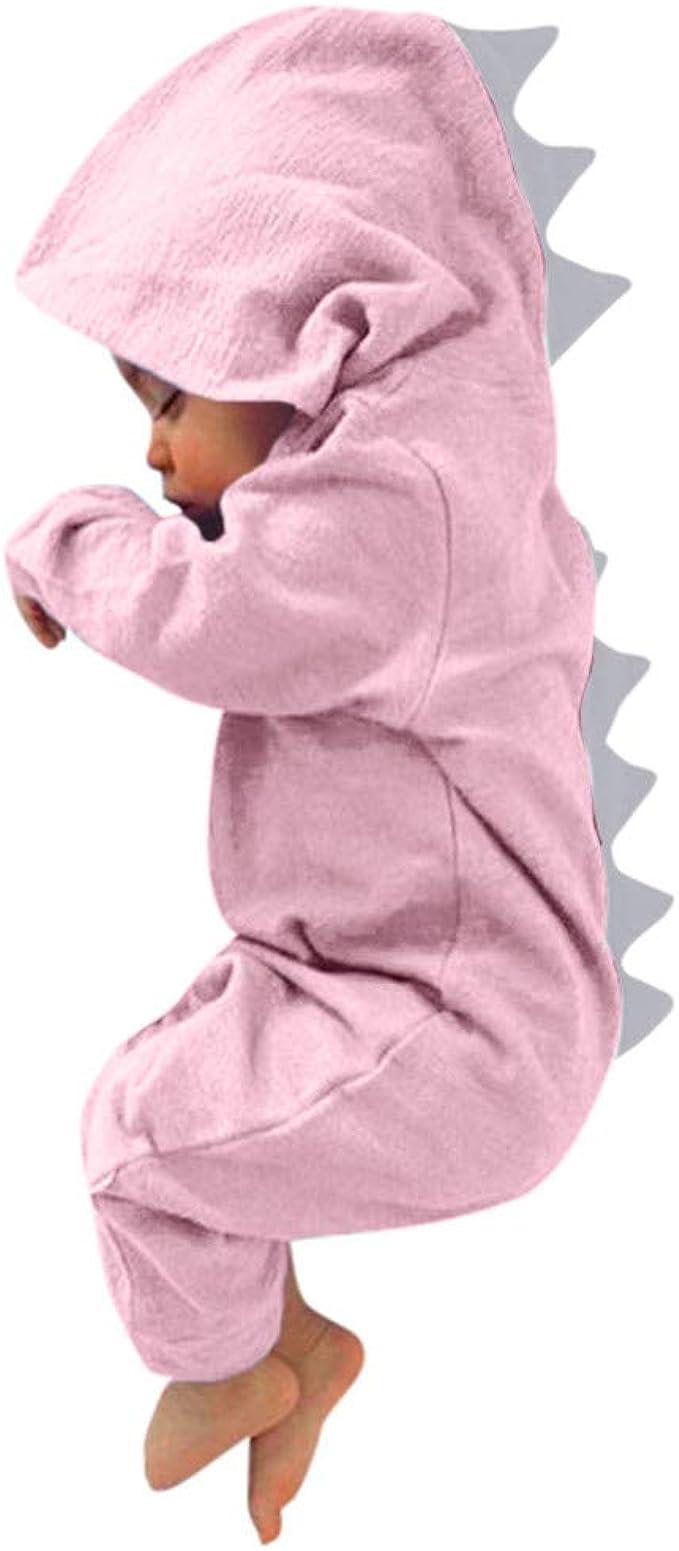 Navidad Ropa Bebe Recien Nacido Monos Bodies con Ciervo Reno Nariz Roja para 0-12 Meses Ni/ña Ni/ño Body de Manga Larga para beb/é
