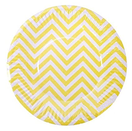 PrettyurParty Chevron Paper Plates (Pack of 10) - Yellow  sc 1 st  Amazon.in & Buy PrettyurParty Chevron Paper Plates (Pack of 10) - Yellow Online ...