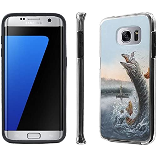 Galaxy S7 Edge / GS7 Edge Case, [NakedShield] [Black] DUO Shock Resistant Armor Case - [Fishing] for Samsung Galaxy Sales
