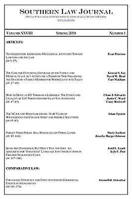 Southern Law Journal, Vol. XXVIII, No. 1, Spring 2018