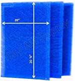 RayAir Supply 21.5x23.25 Dynamic Air Cleaner Replacement Filter Pads 21 1/2 x 23 1/4 Refills (3 Pack)