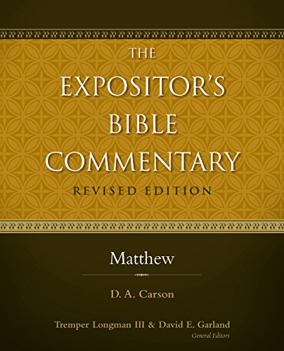 d a carson matthew commentary - 1