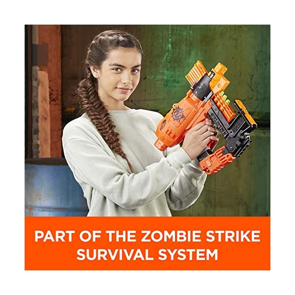Nailbiter-Nerf-Zombie-Strike-Toy-Blaster--8-Official-Nerf-Zombie-Strike-Elite-Darts-8-Dart-Indexing-Clip--Survival-System--For-Kids-Teens-Adults