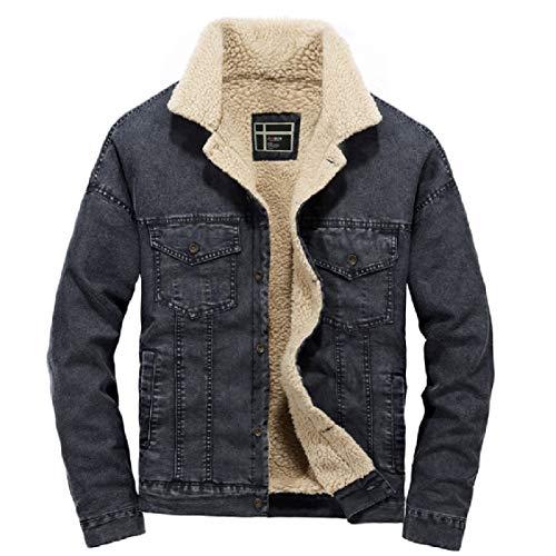 Outwear Coat Fitted Velvet Button Energy Mens Up Plus Jacket Black Denim Bomber wwvRqfz