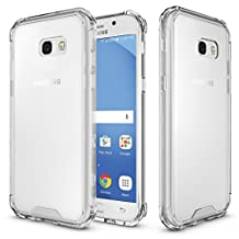 "MOONCASE Galaxy A5 2017 Case, Hybrid Shockproof Slim TPU Bumper with Clear Transparent Hard Back Case Cover for Samsung Galaxy A5 (2017) A520 5.2"" Clear"