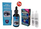 Ethos Bright Eyes NAC Eye Drops & MegaFocus™ 25 Super Nutrient Sublingual Dropper Pipette - 900 times more effective than capsules, pills or tablets