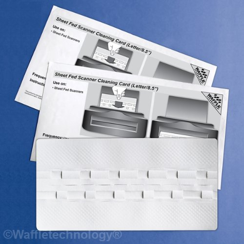 Waffletechnology Sheet Fed Scanner Cleaning Card Featuring (15 Sheets) (KW3-SFS1B15WS)