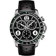 Tissot V8 Chronograph Black Dial Mens Watch T106.417.16.057.00