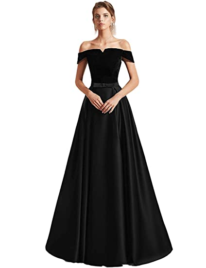 Monabridal Sexy Prom Dresses 2019 Off Shoulder Evening Dress Long