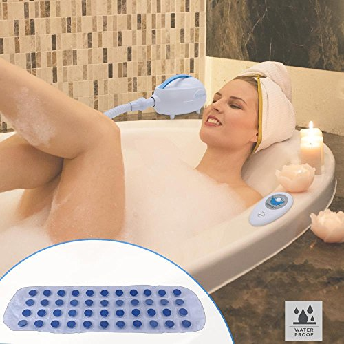 SereneLife Bubble Bath Tub Mat Massage Jacuzzi | Thermal Spa | Waterproof Non Slip Mat | Tub Spa Massager | Keep Warm Function Bath Mat | Relaxing Hot Tub | Remote Control Included by SereneLife (Image #5)