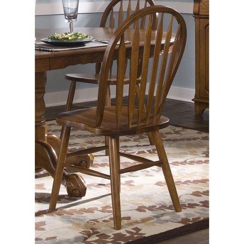 Home Nostalgia Traditional Oak Arrowback Windsor Side Chair