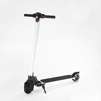 Patinete eléctrico portátil luz para bicicleta, plegable, peso ligero de fibra de carbono Scooter