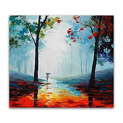 Stjkbmjw Aceite Pintados A Mano Pintar Cuadros De Arte Del Paisaje