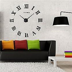 Wall Clock Home Decor 3d Diy Digital Mirror Modern Sticker Living Room Watches Hours