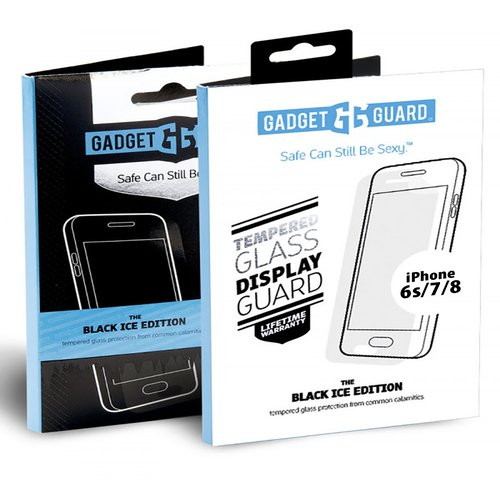 (Gadget Guard Black Ice Tempered Glass Screen Protector for Apple iPhone 6S/7/8 (packaging may vary))
