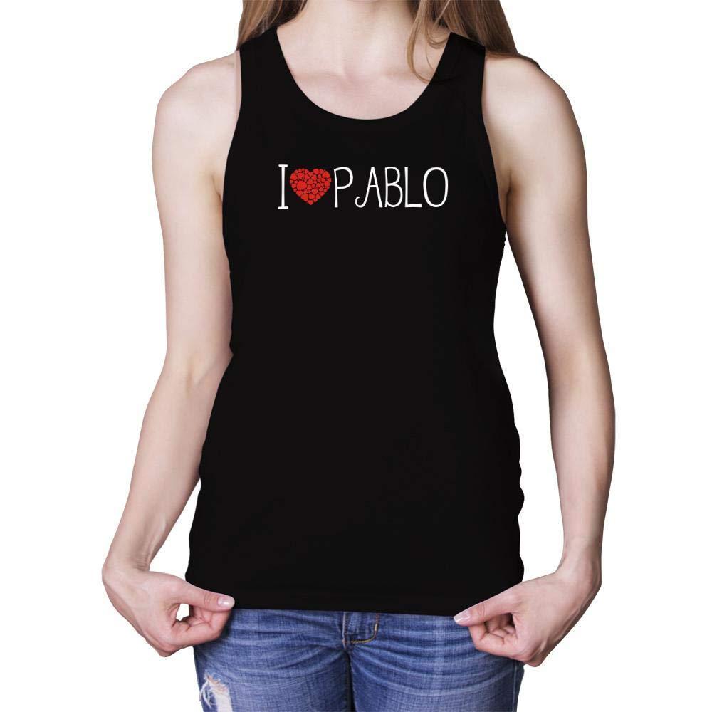 Idakoos I Love Pablo Cool Style Women Tank Top