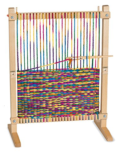Melissa & Doug Wooden Multi-Craft Weaving Loom, Arts & Crafts, Extra-Large Frame, Develops Creativity and Motor Skills, 16.5