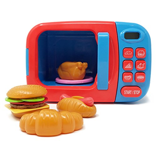 BOLEY Microwave Toy Playset - Play Microwave with Play Food - Great for Pretend Cooking (Wal Mart Appliance)