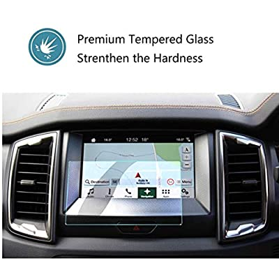 "ZFM Tempered Glass Screen Protector Compatible with Ford Ranger 2020 2020,9H Hardness,High Definition,Protecting Ford SYNC3 8"" Car Center Touch Screen: GPS & Navigation"