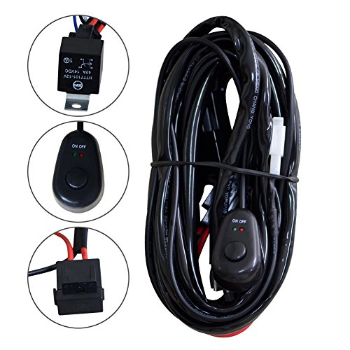 Nilight Wiring Harness Kit for Led Work Light Bar 12V Wiring ON/OFF Switch Relay Harness Kit for Off Road Atv/jeep Included (Bar Harness compare prices)