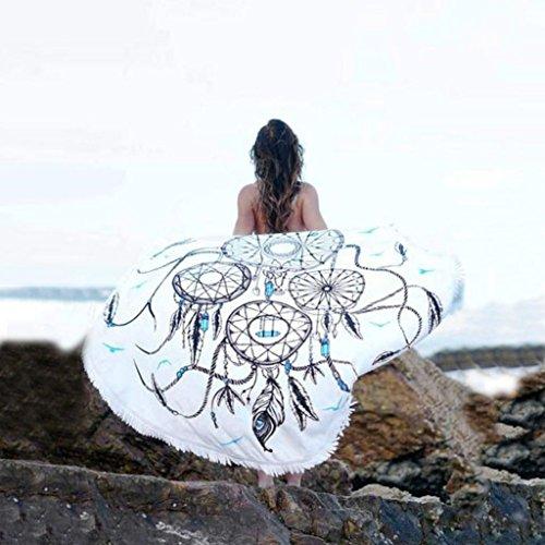 LUNIWEI Decorative Design Dreamcatcher Printed Beach Cover Up Bikini Boho Dress Swimwear Bathing Suit