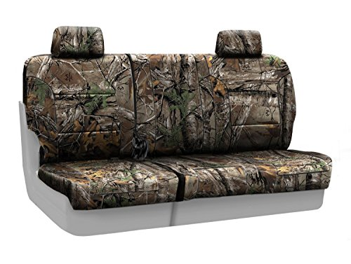 Coverking Rear 60/40 Bench Custom Fit Seat Cover for Select Chevrolet Trailblazer Models - Neosupreme Camo Real Tree (Xtra)