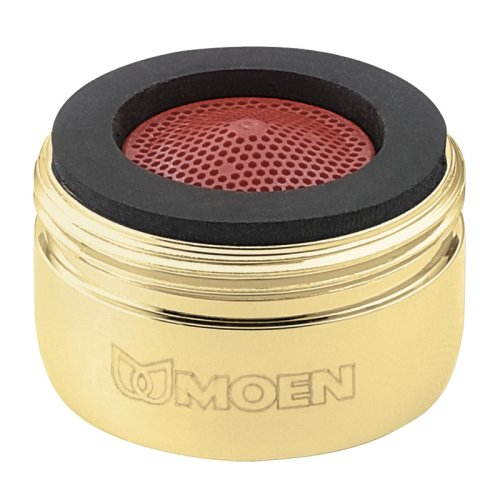 Moen 3919P 2.2 GPM Male Thread Aerator, Polished Brass by Moen