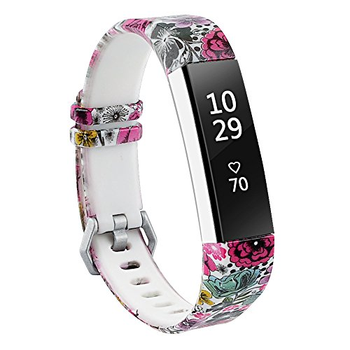 RedTaro Bands Compatible with Fitbit Alta and Fitbit Alta HR,Floral,Standard Size for 5.5