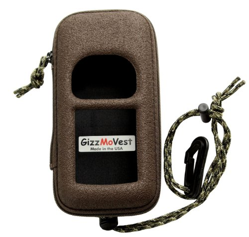 Garmin 76csx 76/72/96 Heavy-Duty CASE in 'Hunter's Coffee' (Search 'GizzMoVest 76' for OTHER COLORS) w/ Webbing Loop, Lanyard, Clip &