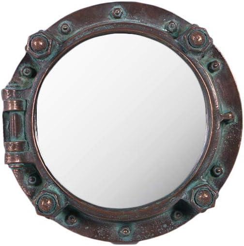 Tropical Imports Antique Porthole Mirror Replica