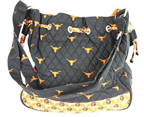 bagamore Texas Longhorns Drawstring Tote Bag-University of Texas Quilted Tote Bag-Texas Longhorns Diaper Bag