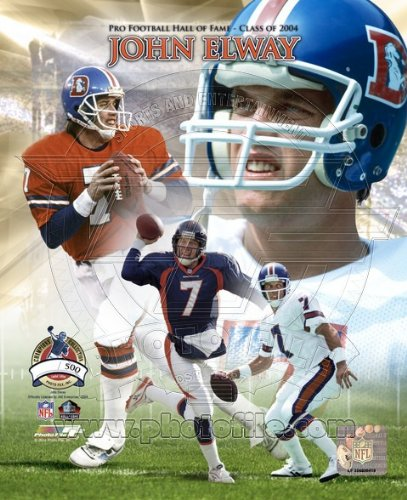 John Elway 8x10 Color Photo Denver Broncos Hall of ()