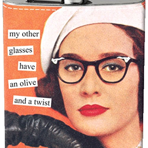 Anne Taintor Flask - Glasses -