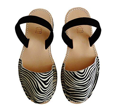 Authentische Menorcan Sandalen, avarcas menorquinas verschiedene Farben abarcas sandalias Cebra tira negra