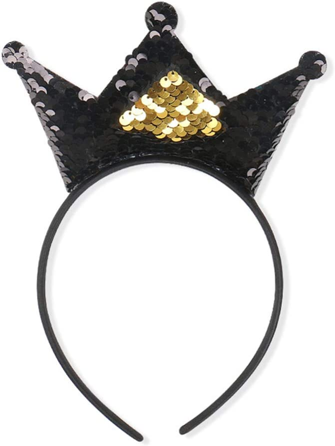 Holibanna 6Pcs Crown Headband Girls Tiara Headband Princess Costume Accessory for Birthday Party Performance